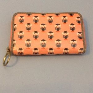 Fossil Coral Owl Zipper Wallet